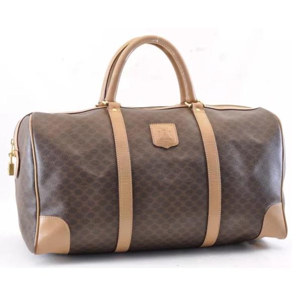 f7b516207ce9 Celine Handbags - Authentic Celine Macadam coated canvas travel bag